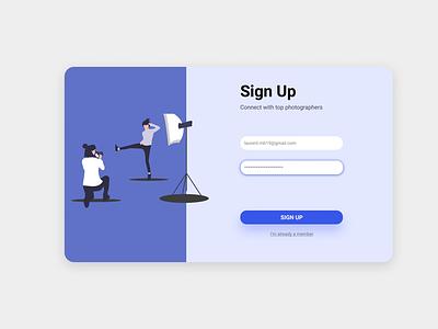 Sign Up sign up form minimal web ux ui sign up design signup website alignment design