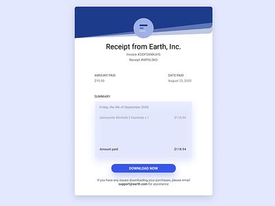 Daily UI :: 017 - Email Receipt grid web website email receipt receipt minimal ux flat ui alignment design