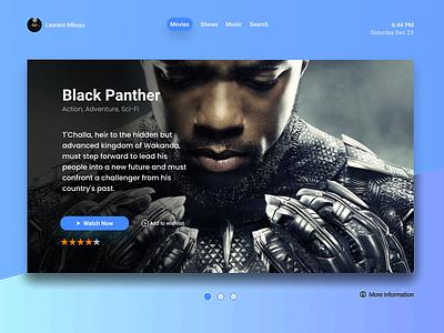 Daily UI :: 025 - TV App music movies tv series tv show tribute typography website minimal ui alignment design tv app app tv