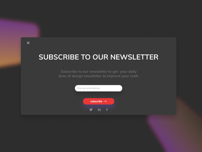 Daily UI :: 026 - Subscribe web website grid ux flat minimal ui alignment design subscribe form subscriptions subscription