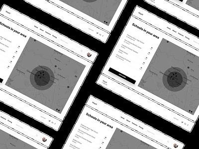 School Locator website ux flat minimal ui alignment design mapping locate location locator map