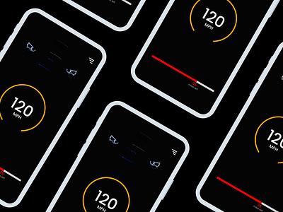 Daily UI :: 034 - Car Interface design app mobile design alignment design interfacedesign interface car interface car