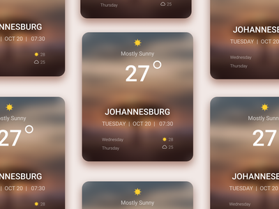 Daily UI :: 037 - Weather minimal ui alignment design clouds sunny day weathered weather forecast weather icon weather app cloudy sunny weather