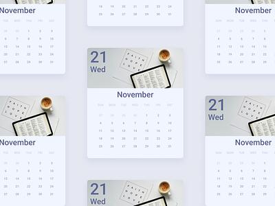 Daily UI :: 038 - Calendar grid ui alignment design week month days calendar