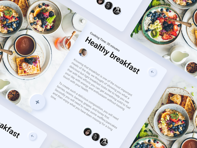 Daily UI :: 040 - Recipe minimal ui alignment design restaurant breakfast food dishes recipe