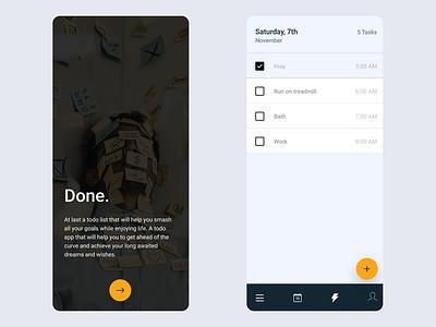Daily UI :: 042 - ToDo List mobile app design application flat minimal ui alignment design app design app todo app todolist todo