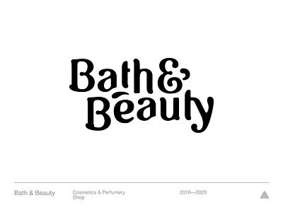 Bath & Beauty vector mark perfumery cosmetics beauty bath typography black clean minimal branding symbol logo
