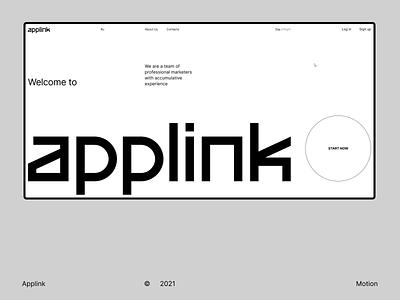 Applink Desktop minimal design website uiux ux ui figma animation landing