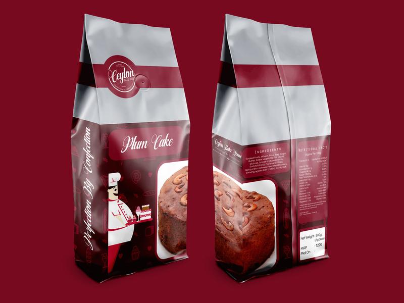 Plum Cake Packaging Design branding baker bakery restaraunt cake plum packagedesign package