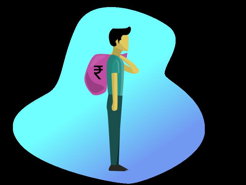 Man with money | Character Design money artwork rupee finance charecter design adobeillustator illustration