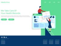 Health Record Managing platform homepage