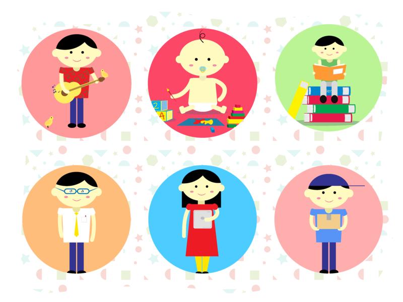 Children's illustration   Part 2 web illustration parenting education learning toddler infant children kids charecter design illustration