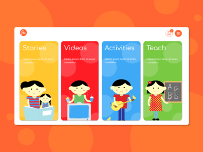 Parenting App | Web Landing Page | Childrens Education Platform