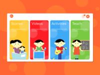 Parenting App   Web Landing Page   Childrens Education Platform