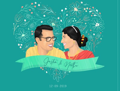 Couple Illustration | Wedding Anniversary