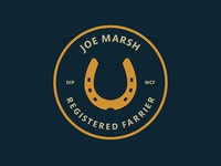 Joe Marsh farrier logo design