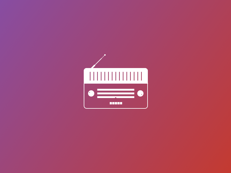 Radio Icon Old School Rebound by Veera on Dribbble