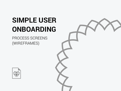 User Onboarding Process - Wireframes users resources sketchapp wireframes onboarding forms login signup appscreens mobileapp sketchfile