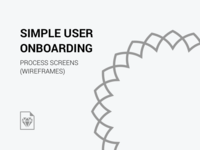 User Onboarding Process - Wireframes