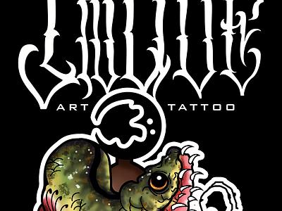 Proyecto logo tattoo, reproducción de dibujo, digitalización. minimal lettering identity icon illustration flat vector branding logo design