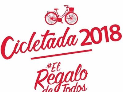 Diseño de Gráfica Cicletada 2018, Teletón Maria Pinto, Chile. illustrator typography type minimal lettering identity icon illustration flat vector logo branding design