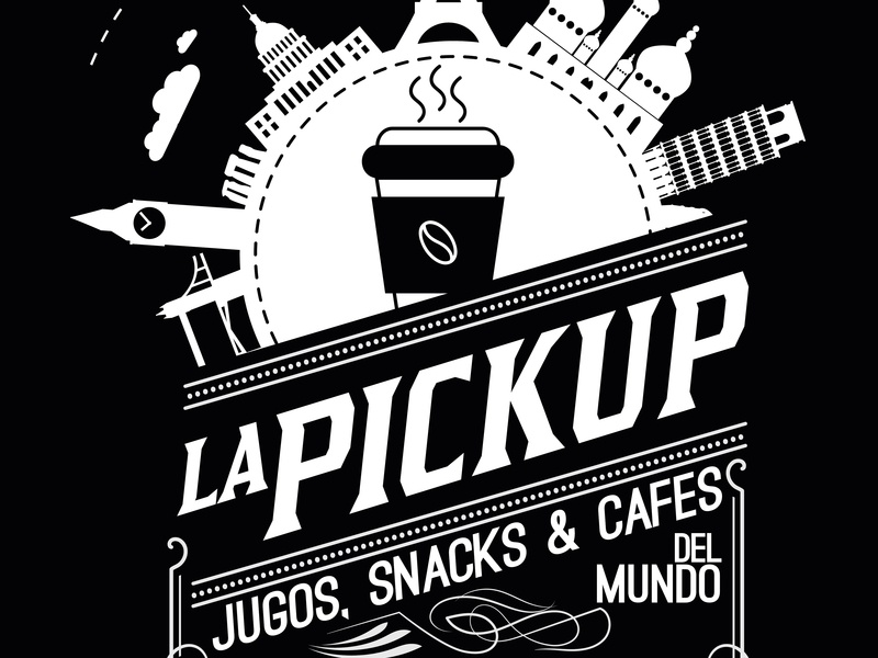 Logo Lapickup, Foodtruck, Stgo, Chile.