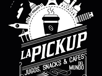 Logo Lapickup, Foodtruck, Stgo, Chile. art brand character clean typography illustrator type minimal lettering identity icon illustration flat vector branding logo design