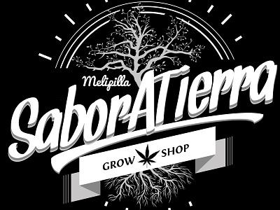 Creación de Marca, Sabor a Tierra GrowShop, Chile. clean brand art typography illustrator type minimal lettering identity icon illustration flat vector branding logo design
