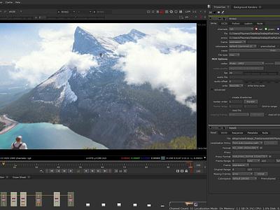 Proyección de cámara en NUKE Compositing, Montaña. rotoscopia animation video composing nuke