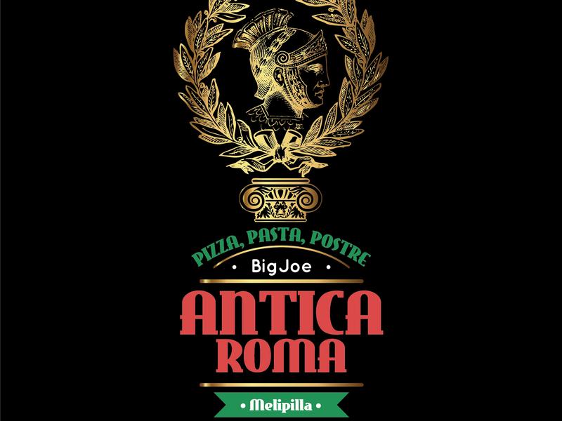 Creación de Marca, Antica Roma, Pizzeria, Melipilla Chile.