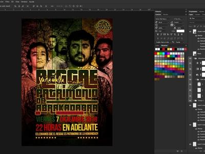 Afiche digital e impreso para Abrakadabra Bar, Yanawalka banda.