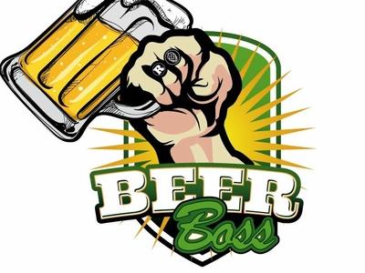 Logo para marca de cerveza chilena. BeerBoss typography illustrator type lettering minimal icon identity flat illustration vector logo branding design