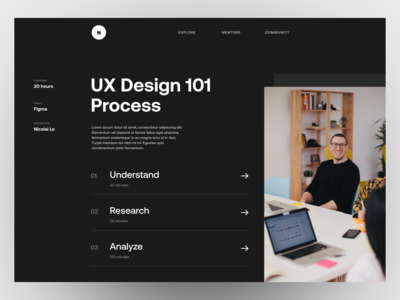 UX Design Course - Concept learning platform course website course workshop website design ui