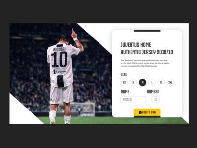 Personalise Football Kit Page - Juventus