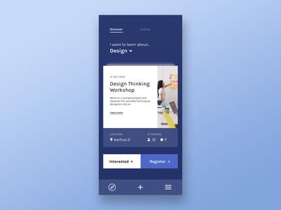 Events App Concept