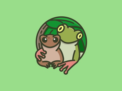 Frog and friend friend forest lizard frog illustrator cute colorful mascots cartoon playful logo design youthful illustration character