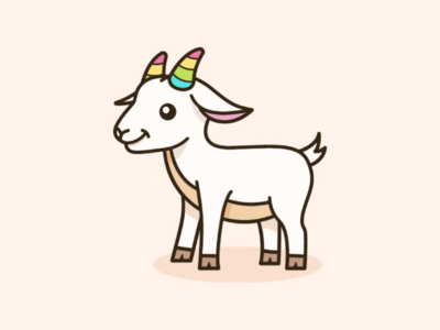 Baby Goat With Rainbow Horn