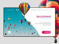 Landing Page. Ballooning