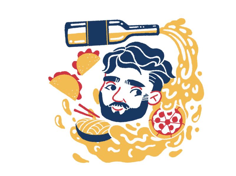 Ron greetingcard greetingcard food illustration food illustration