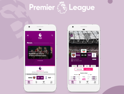 Premier League App Fantasy Design