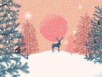 Winter landscape vector art