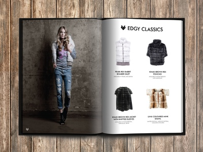 MyMink Lookbook 2015 dizzain lookbook fashion fur print wood photography branding