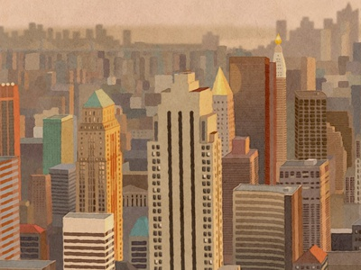 Dizzain.com Redesign header new york city manhattan illustration city buildings vector nyc