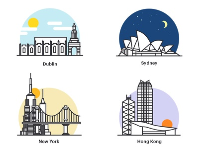 City Icons city illustration landmark icon