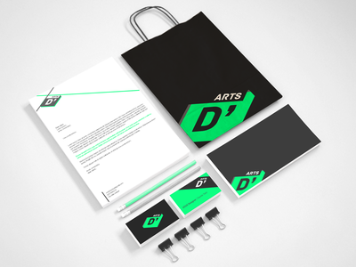 D'ARTS \\ Stationery stationery logo logo design brand brand design stationery design darts branding