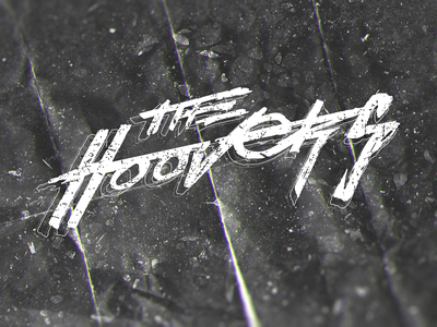 The Hoovers Logo calligraphy type design davide tarsi tarsi davide darts logo hoovers the hoovers