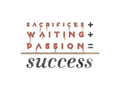 the rule for success typo typography