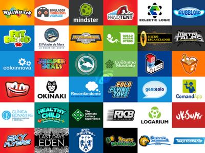 Logo design portfolio compilation viral marketing company symbol vector graphic graphic design branding logotype design logo