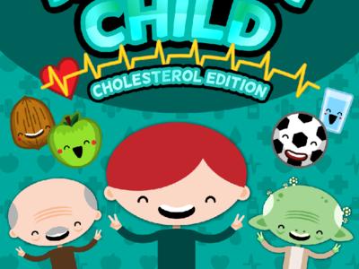 Healthy Child Video Game Cover Design artwork children flat character design vector illustration art health healthy child game video game