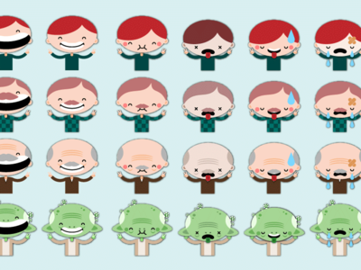 Character design spritesheet: Healthy Child Video Game yoda child frames animation game spritesheet sprites design illustration character cartoon video game